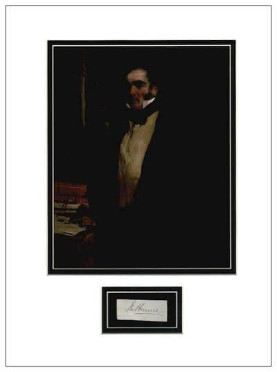 William Lamb, Viscount Melbourne Autograph Signed Display