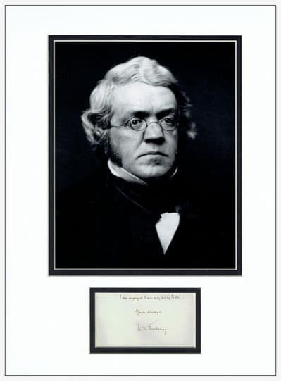 William Makepeace Thackeray Autograph Signed Display