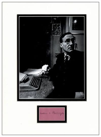 William S Burroughs Autograph Signed Display