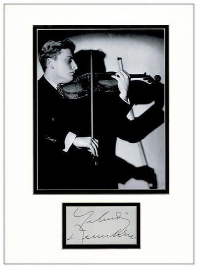 Yehudi Menuhin Autograph Signed
