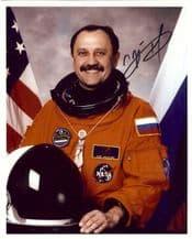 Yuri Usachev Autograph Signed Photo - Cosmonaut