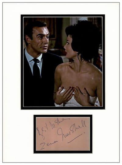 Zena Marshall Autograph Signed Display - Dr No