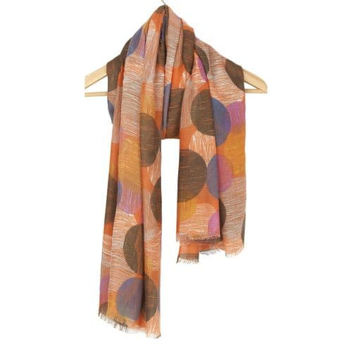 Abstract Multi Circle Scarf