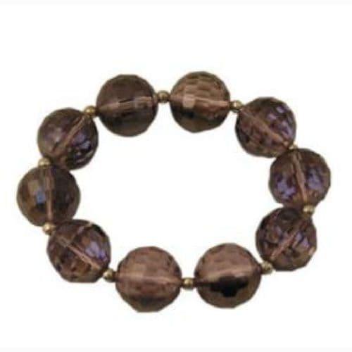 Amethyst  Glass Ball Bracelet