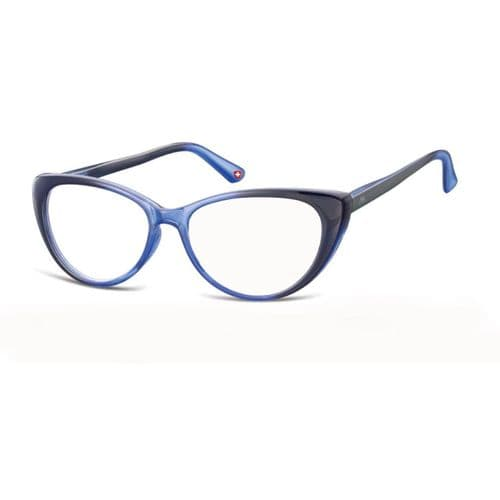 Cats Eye Two Tone Reading Glasses Blue