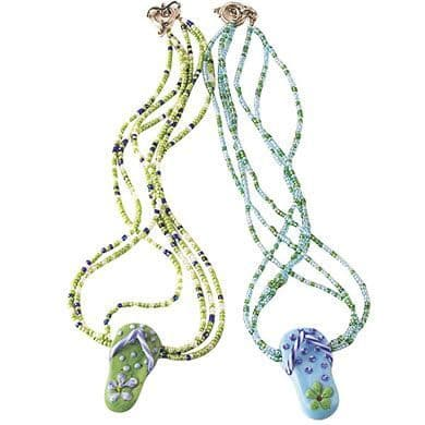 Ceramic Flip Flop Necklaces