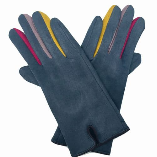 Coloured Finger Gloves Grey