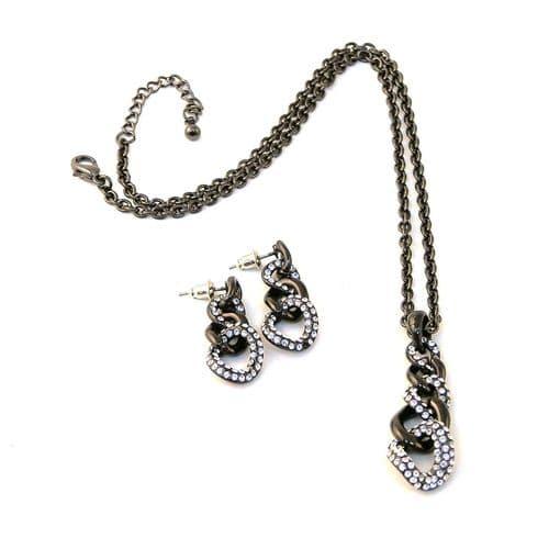 Diamante Necklace Set