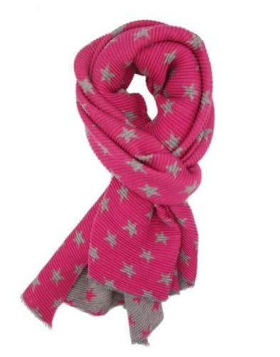 Double Sided Pleated Mini Star Scarf