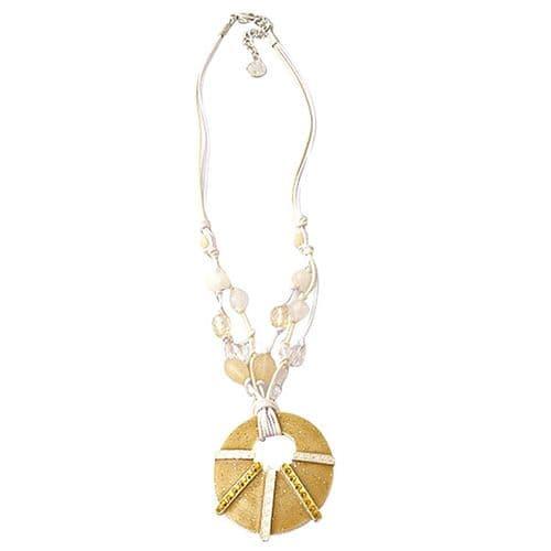 Enamel Cobweb Necklace