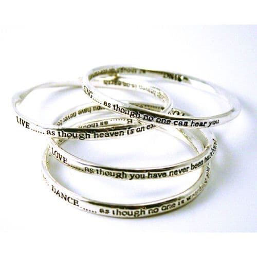 Four Engraved Bangles