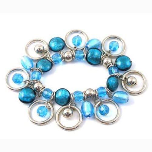 Glass  &  Circles Bracelet