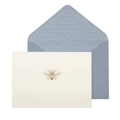 Hand Foiled  Bee Notecard Set