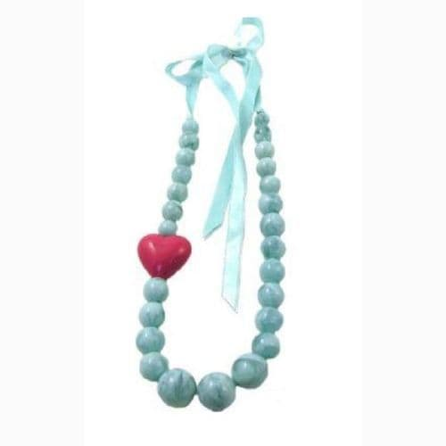 Heart & Ribbon Necklace