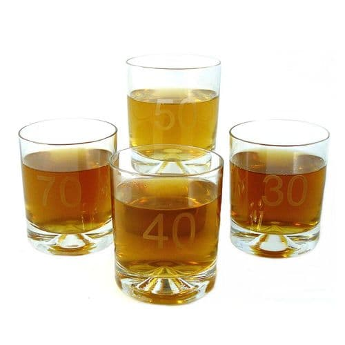 Heavy Glass Age Tumblers
