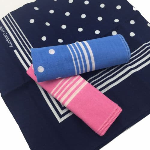 Jumbo Cotton Hanky Trio