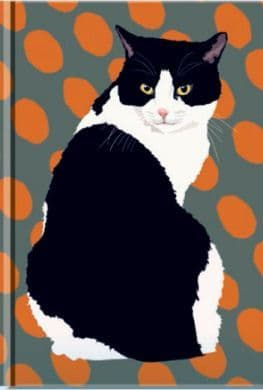 Lined Hardback Cat Notebook
