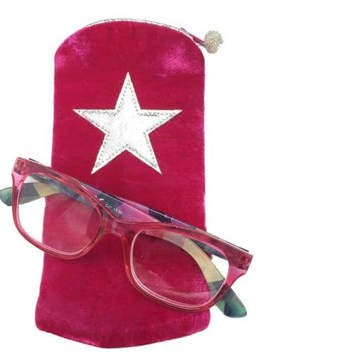 Metallic Star Embroidered Glasses Cases