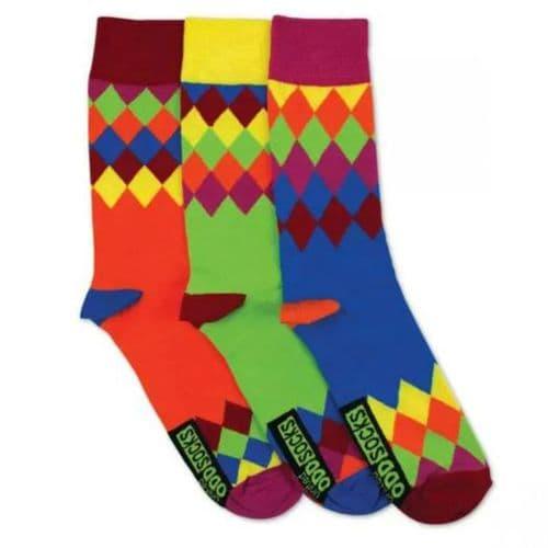 Mismatched Sock Trio - Diamonds