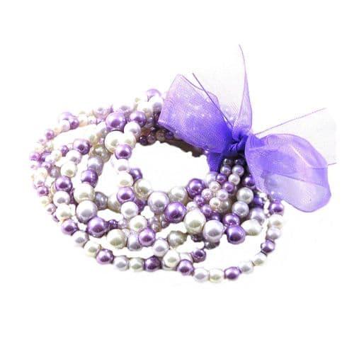 Multistrand Lilac Bracelet