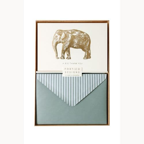 Notecard Set Elephant Thank You