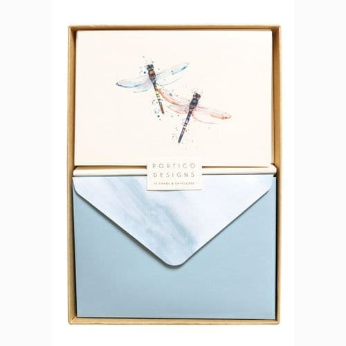 Notecard Set With Two Dragonflies