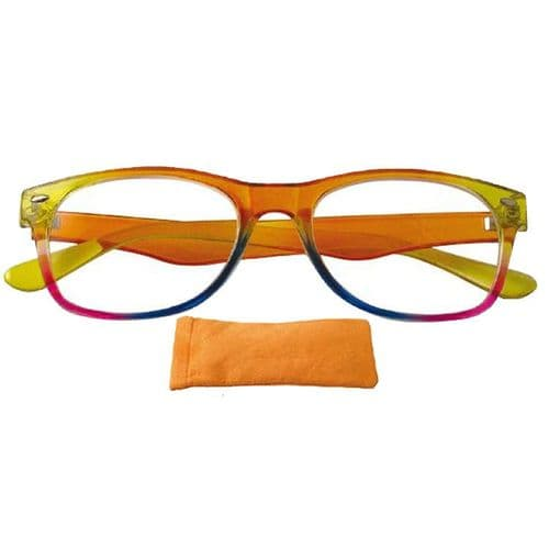 Reading glases in Striking Citrus Sorbet