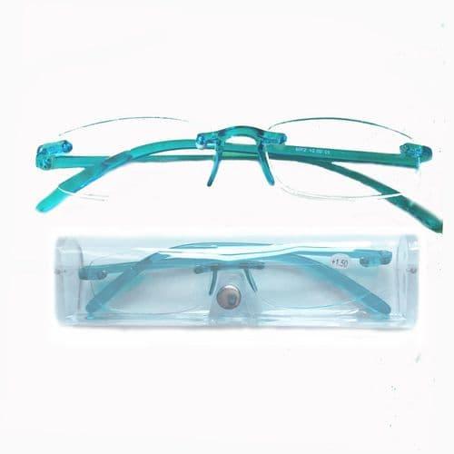 Reading Glasses Chameleon Bubble Blue