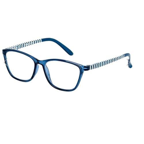 Reading Glasses Hornpipe Stripes in Blue