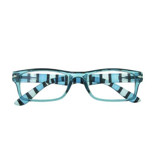 Reading Glasses in Crisp Blue Stripes