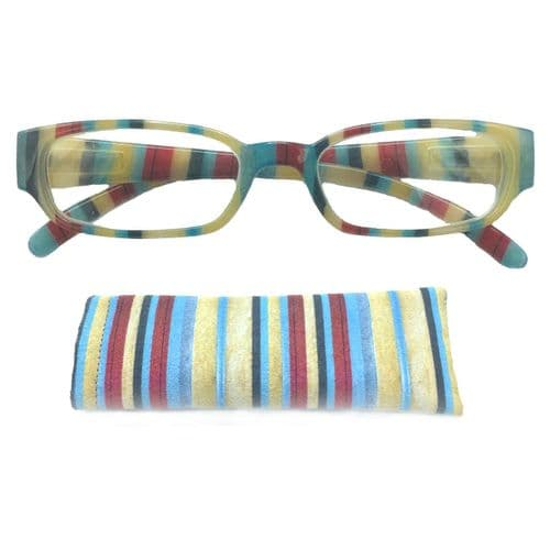 Reading Glasses Kaleidoscope Toffee Stripes