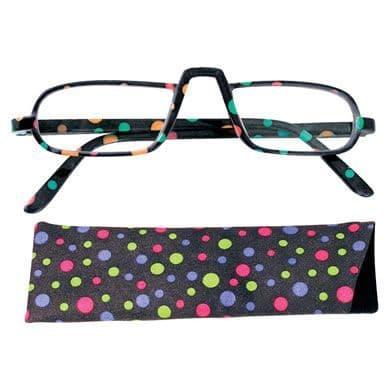 Reading Glasses Saucy Specs - Black Dotty