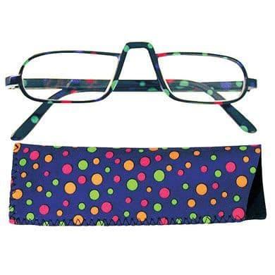 Reading Glasses Saucy Specs - Blue Dotty