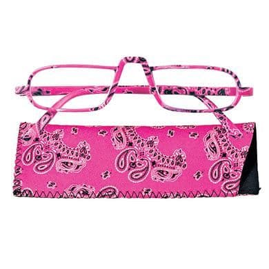 Reading Glasses Saucy Specs - Pink Paisley