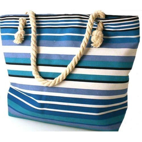 Roomy Beach Bag With Rope Handles