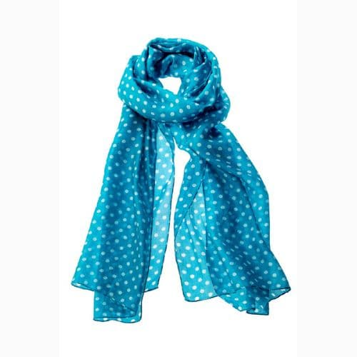 Silk Scarf Dotted With  Spots