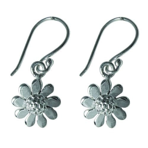 Silver Plated Daisy Earrings