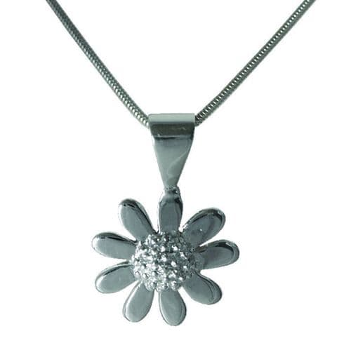Silver Plated Daisy Necklace
