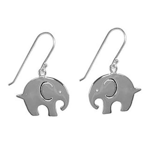 Silver Plated Elephant Earrings