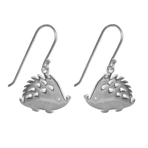 Silver Plated Hedgehog Earrings