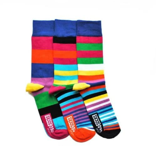 Sock Trio Jazzily Striped for Him