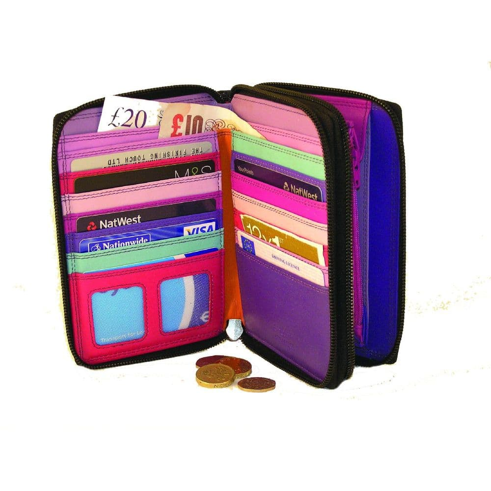 Two Compartment Multicolour Wallet
