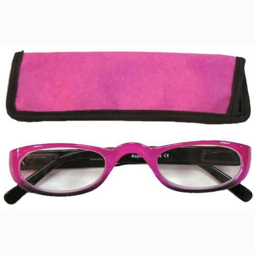 Two Tone  Glasses in Fuchsia and Sleek Black