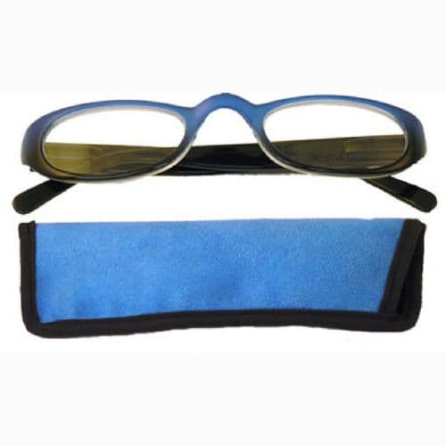 Two tone  Glasses in Sleek Black & Blue