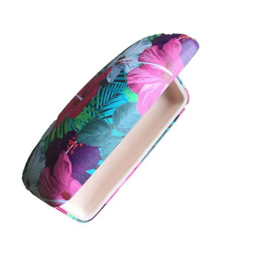 Vibrant Hibiscus Glasses Case