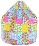 Adult Cotton Patchwork Bean Bag