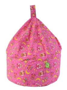 Kids Pink Owl Bean Bag