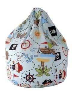 Kids Pirates Bean Bag