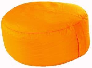Outdoor Pouffe Foot Stool Orange