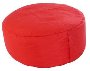 Outdoor Pouffe Foot Stool Red